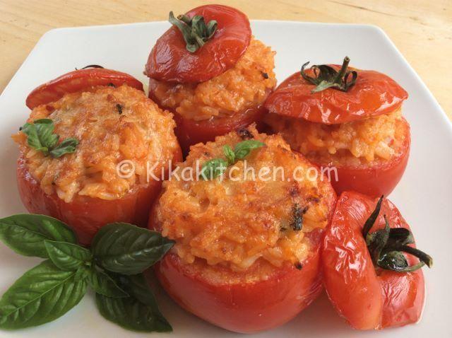 pomodori ripieni di riso e parmigiano