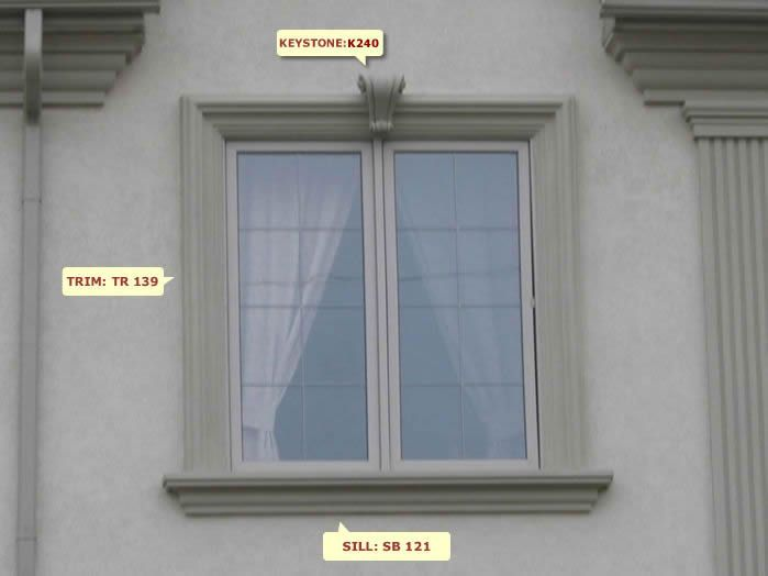 exterior mouldings dpm decor window design w 13 - Exterior Window Moulding Designs
