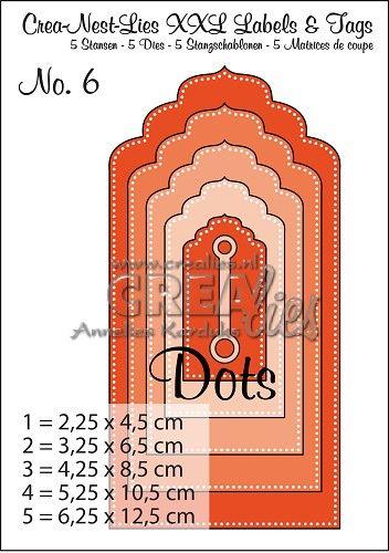 https://www.crealies.nl/detail/1598583/crea-nest-lies-xxl-labels-tags.htm Crea-Nest-Lies XXL Labels & Tags no. 6 with dots