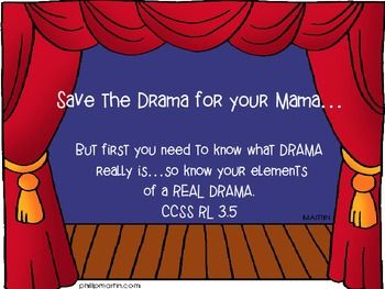Elements of a Drama: Printable for students Common Core Aligned