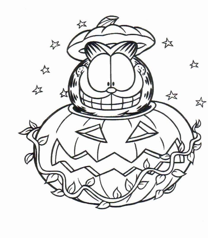halloween coloring pages garfield halloween coloring pages pumpkin - Halloween Color Pages For Kids 2