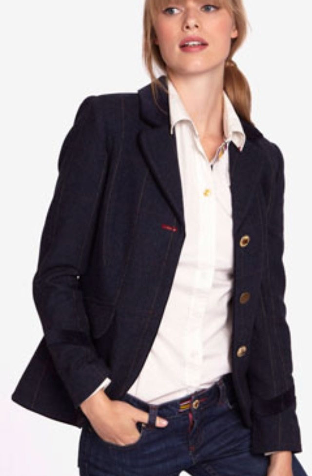 Joules Tweed Jacket, contrasting button hole!