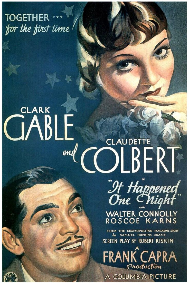 Clark Gable and Claudette Colbert in It Happened One Night. I've got a thing for old black and white films.