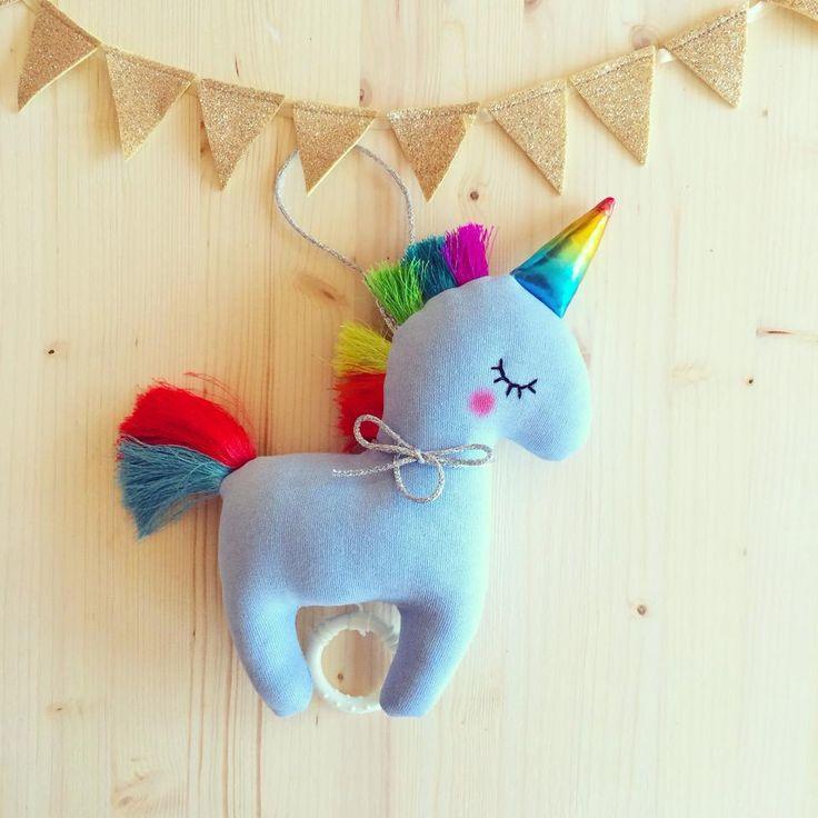 unicorno carillon di tralenuvolehandmade su Etsy