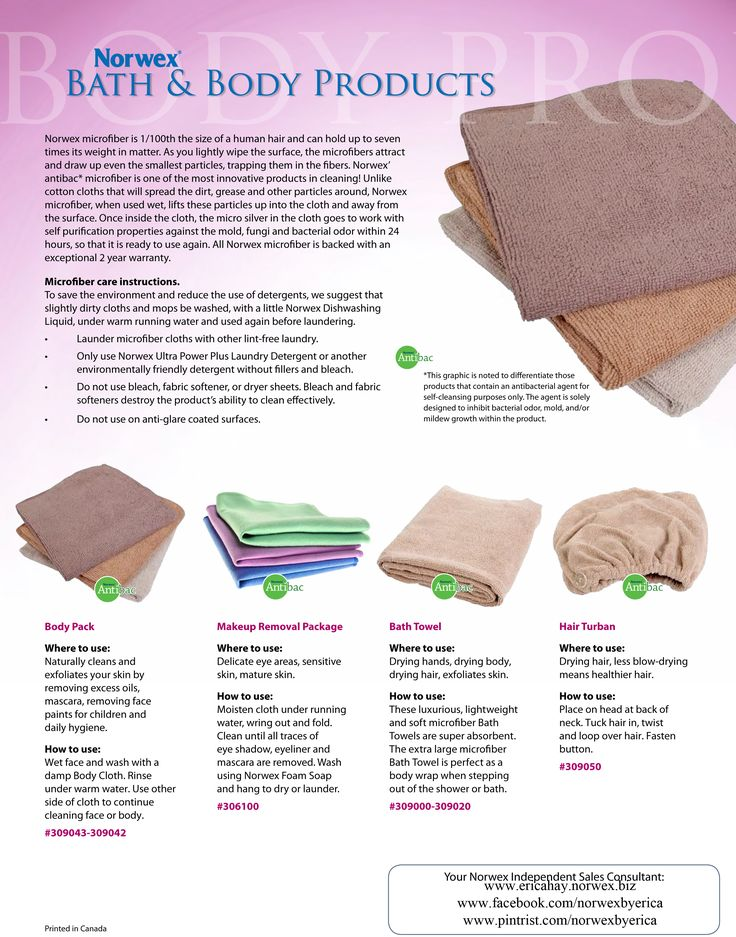 Ah! Troy & I LOVE the Bath & Body Line with Norwex. We each own 1, yes ONE, towel each. If you're wondering...we launder our towels once every week. They are freaking amazeballs!