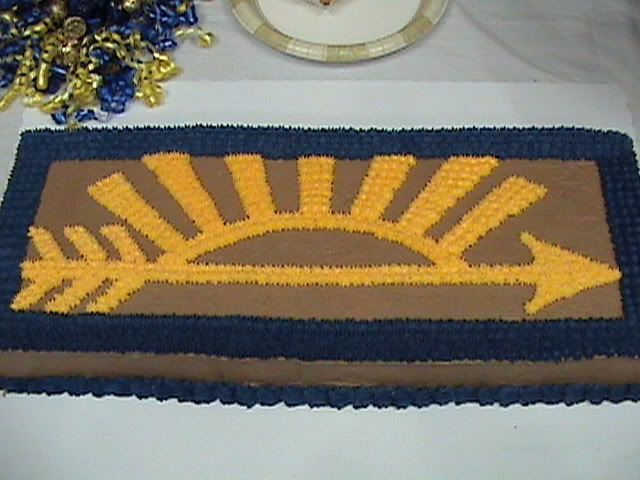 boy scout cupcake decorations | Blue and gold banquet cake...ideas?
