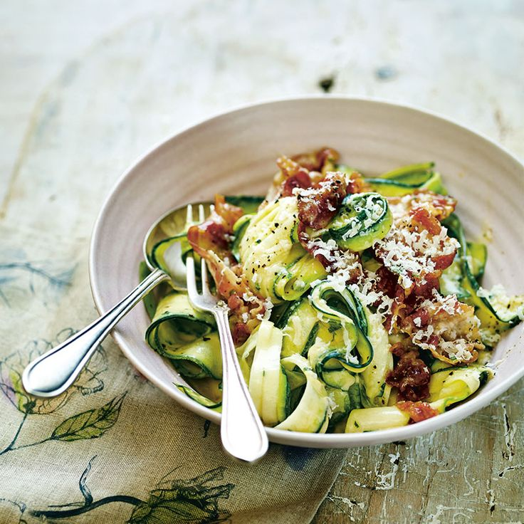 Prep Time: 10 Minutes | Cooking Time: 10 MinutesServes 2A quick supper to whip up, this is a healthier take on the popular Italian dish, but it still retains all the delicious flavour. For a more filling alternative you can swap the courgetti for brown rice pasta.