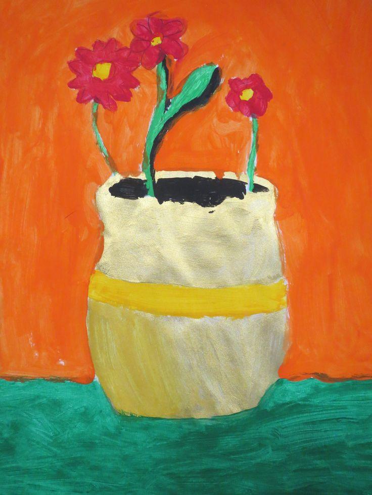 Geïnspireerd op het werk van Vincent van Gogh, groep 7/8.