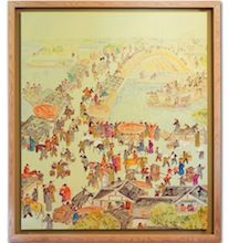 River of Wisdom - Large Oil on Canvas. Framed. Visit our online showroom for this and other items
