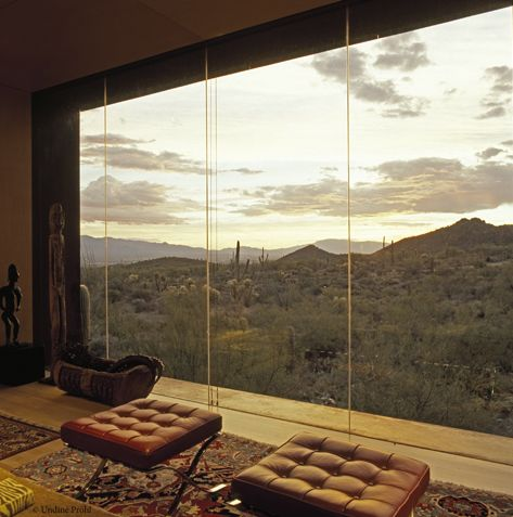 Home overlooking the desert: Arizona View, Living Rooms, Favorite Places, Window View, Dreams, Glasses, Front Rooms, House, Desert Decor