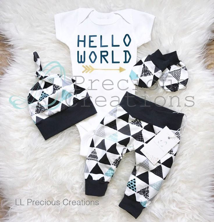 Hello World Outfit Coming Home Baby Boy Outfit Newborn Outfit Boy Clothes Baby Boy Leggings Hat Black Triangles Tribal Outfit Mittens by LLPreciousCreations on Etsy https://www.etsy.com/listing/527318354/hello-world-outfit-coming-home-baby-boy #babyboyleggings #boyoutfits