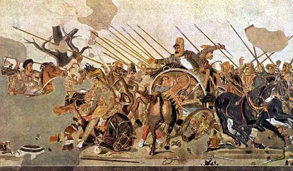 La battaglia di Alessandro, III-II secolo a.C. Copia da un originale (attribuito ad Apelle) del IV-III secolo a.C. Mosaico Napoli, Museo Archeologico Nazionale