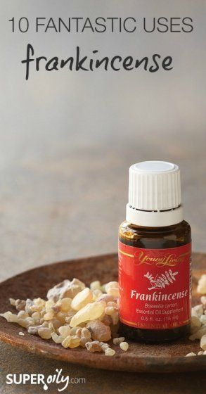 Super Oily – 10 Fantastic Uses for Frankincense Essential  1 – 2 drops of Frankincense on sun-damaged skin spots 2 times a day until it fades & more