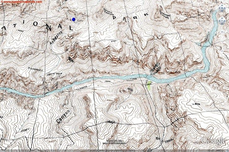 Link here  This is a topographic map of Grand Canyon