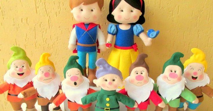 Personagens do clássico infantil da Disney encomendados pela Luciana Vignati, aqui mesmo de São Paulo/SP. Príncipe, Branca de Neve e toda...