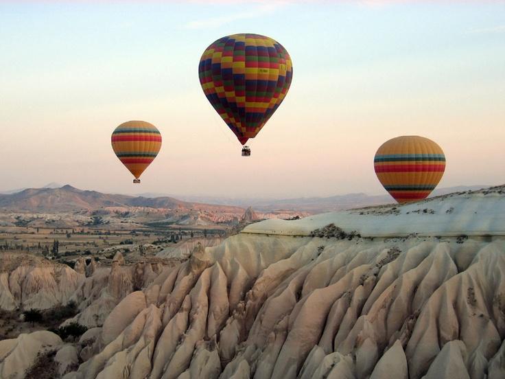 Volar en globo sobre Capadocia, Turquia