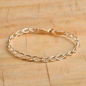 ronaldo two tone mix intertwine bracelet