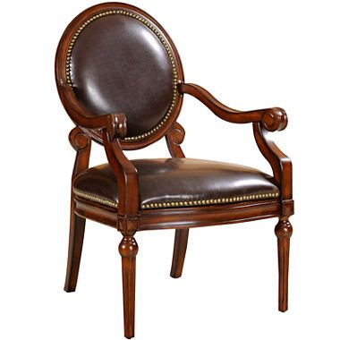 jcpenney.com | Shelby Faux-Leather Round-Back Chair (With ...