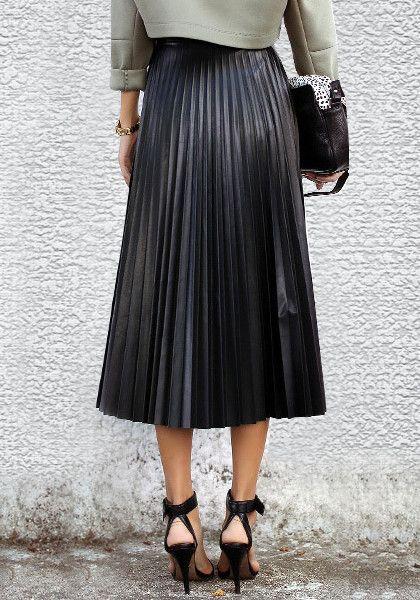 Leather pleats