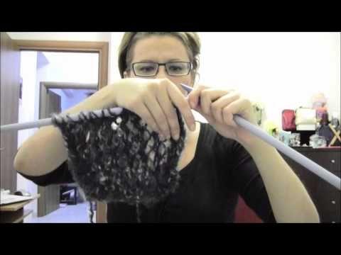 Πλεξιμο κασκολ με τρυπες! - YouTube