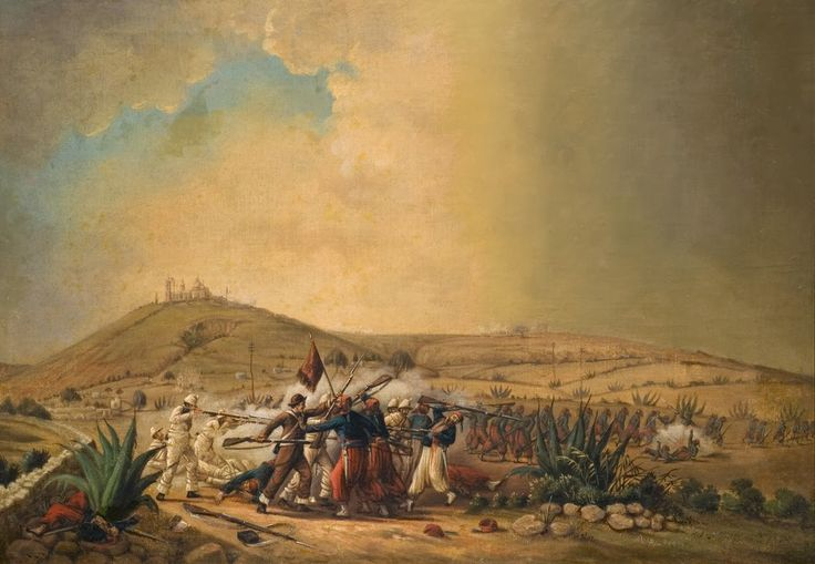 Battle Of Puebla Painting War Art Mexico Culture