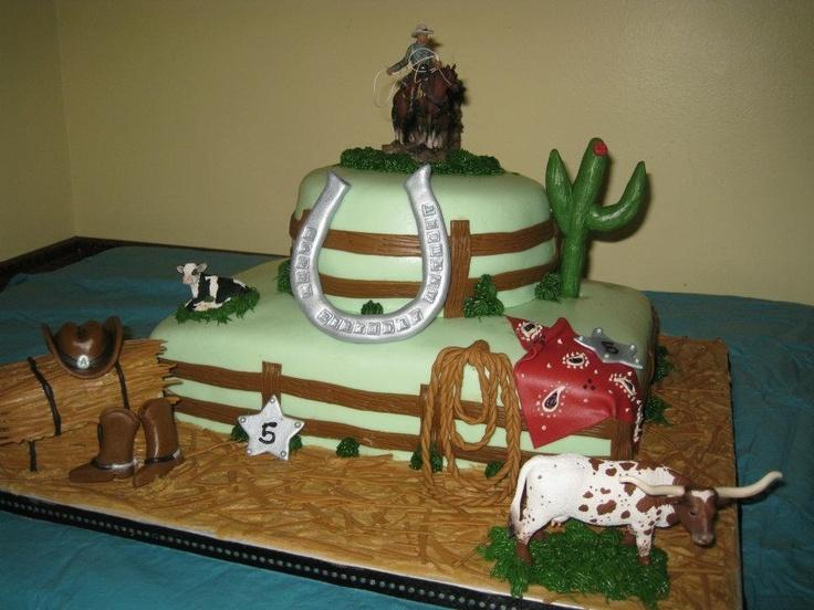 Cowboy birthday cake My cakes Pinterest Cowboy birthday