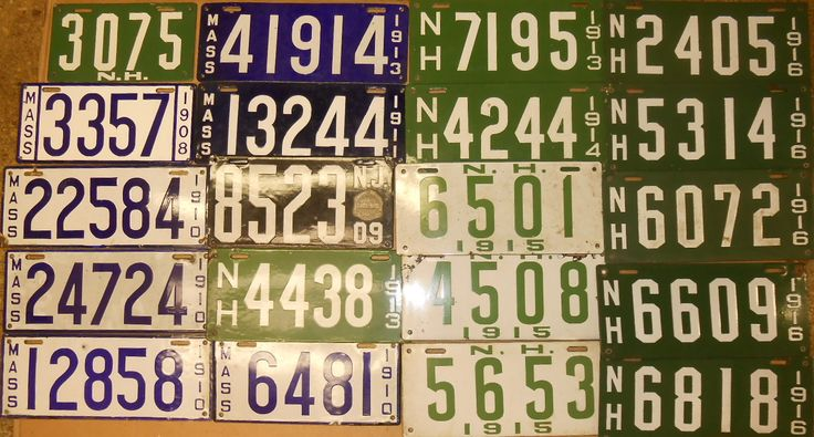 Forty misc porcelain plates - some MA, one NJ, most are NH - Realized Price: $2,006.00