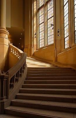 Suzzallo stairs.