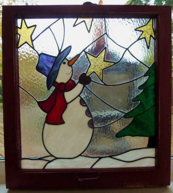 These Christmas stained glass windows are so much fun to make during those cold and dark fall and winter nights. This art piece has over 40 pieces of