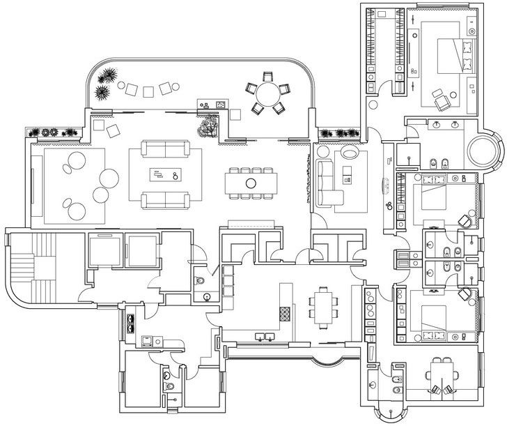 Best Apartment Plans Images On Pinterest Apartment Plans