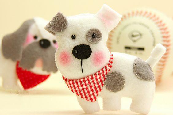 Moldes para hacer perros de fieltro (1)