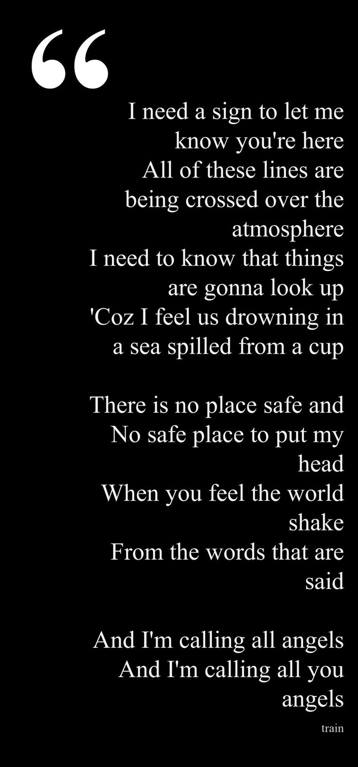 Train - Calling All Angels Lyrics | MetroLyrics