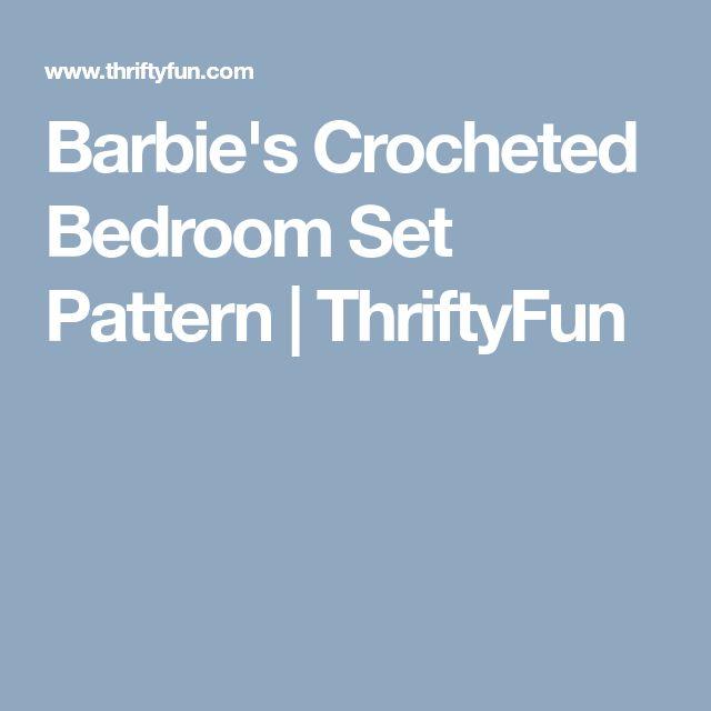 Barbie's Crocheted Bedroom Set Pattern | ThriftyFun