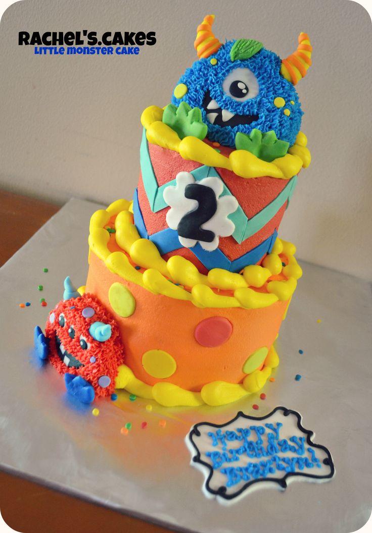 Little Monster Birthday Cake My Own Cakes Pinterest