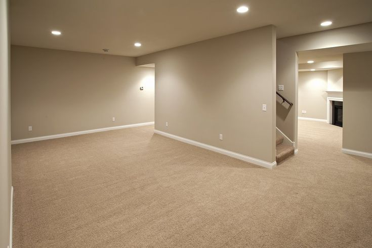 finished basement -- open, light, cozy, defined spaces