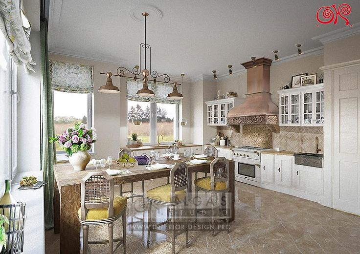 Country style kitchen home design ideas