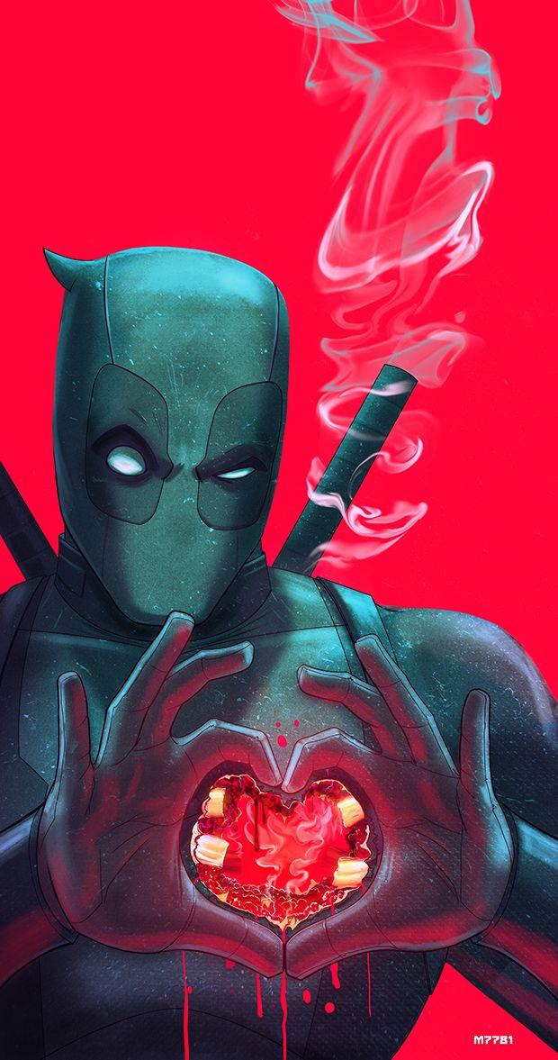 """deadpool… have a heart"" / Artwork by m7781 (Deviant Art-ist) Follow The Best Comics Artwork Blog on Tumblr"