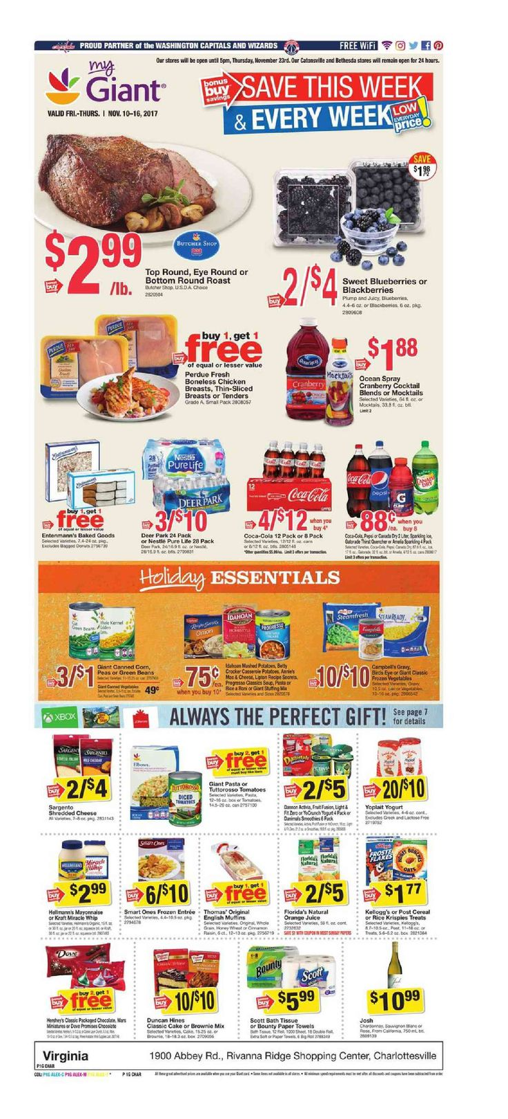 Giant Food Weekly Ad November 10 - 16, 2017 - http://www.olcatalog.com/grocery/giant-food-weekly-ad.html