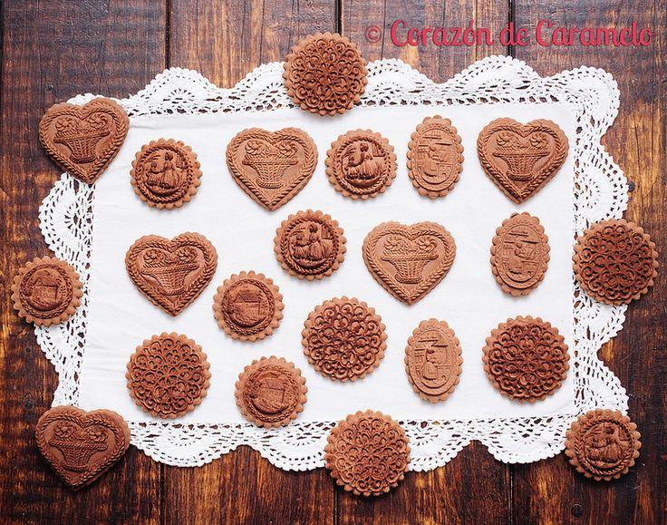 Galletas Springerle de Chocolate