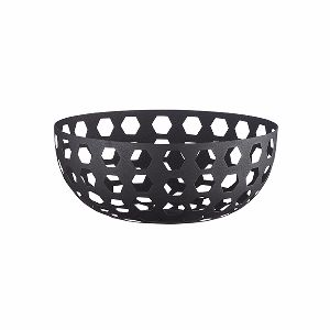 'Hexa' Matt Black Iron Bowl: Pure Culture's A/W collection brings this beautiful bowl made from iron in a matt black finish.  The hexagon pattern keeps the looks interesting yet simple, while the matt black finish ensures the bowl will suit many different interior styles.