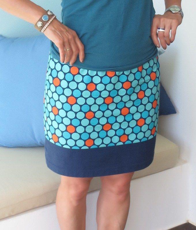 Schneller einfacher Jerseyrock mit Gummizug | Kleidung ...