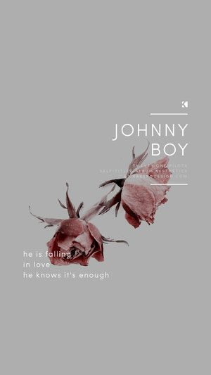Johnny Boy Lockscreen, Twenty One Pilots Lyrics (Self Titled Aesthetics)   Graphic Design + Photography by KAESPO