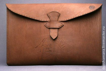 Сумки для ноутбуков ручной работы. Ярмарка Мастеров - ручная работа Чехол для ноутбука/нетбука из толстой кожи. Handmade.