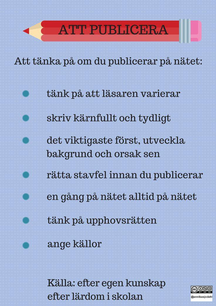 7 Att publicera