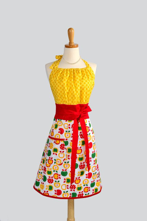 +: Adorable Aprons, Kitsch Aprons, Bright Aprons, Awesome Aprons, Cuuut Aprons, Red Apples, Green Red, Bright Yellow, Retro Apples