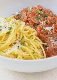 Rustic Bolognese Sauce - Microwave Pressure Cooker recipe                                                                                                                                                     More