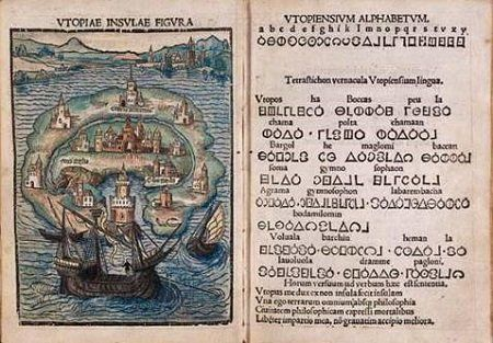 Utopia by Thomas More, 1516 edition. Image credit: Thomas More/Public domain.
