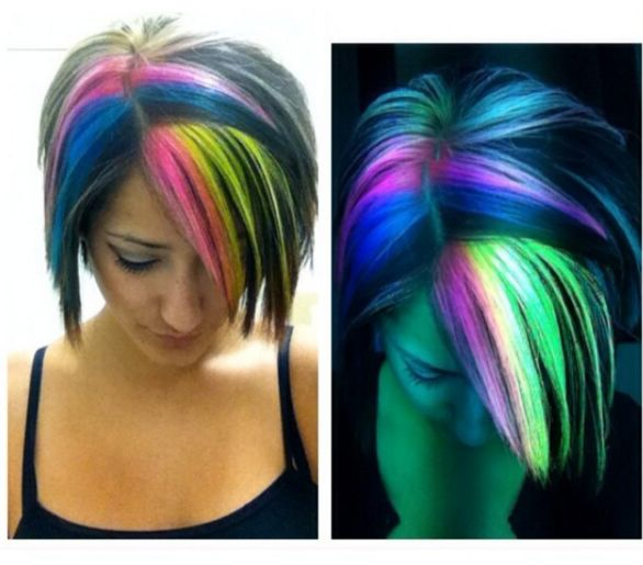 how to make glow in the dark hair diy