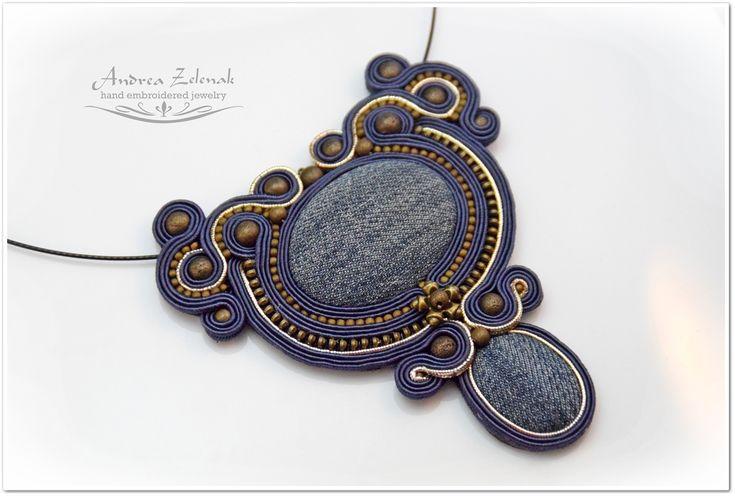Soutache necklace - Andrea Zelenak S0390