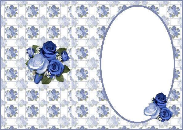 Blue flower insert